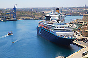 Cruise ships in Grand Harbour, Valletta, Malta