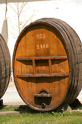 Chile Wine Country: Barrel at Concha y Toro Winery, near Santiago..Photo #: ch468-32939..Photo copyright Lee Foster, 510-549-2202, www.fostertravel.com, lee@fostertravel.com.