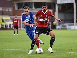 Kevin Bru of Ipswich Town in action with Danny Lloyd of Peterborough United - Mandatory by-line: Chantelle McDonald/JMP - 18/07/2017 - FOOTBALL - ABAX Stadium - Peterborough, England - Peterborough United v Ipswich Town - Pre-season friendly