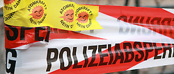 08.11.2010, Castortransport 2010, Dannenberg, GER, Polizeiabsperrband vorm Verladebahnhof Dannenberg, EXPA Pictures © 2010, PhotoCredit: EXPA/ nph/  Kohring+++++ ATTENTION - OUT OF GER +++++