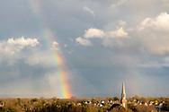 Rainbow in Middletown, N.Y., on April 13, 2020.