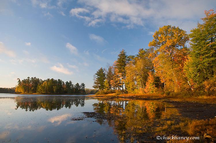 Sunrise light on Franklin Lake near Minocqua Wisconsin