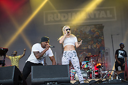 © Licensed to London News Pictures . 07/06/2014 . Heaton Park , Manchester , UK . Anne Marie Nicholson performs with RUDAMENTAL on the Main stage at the Parklife music festival in Heaton Park Manchester . Photo credit : Joel Goodman/LNP