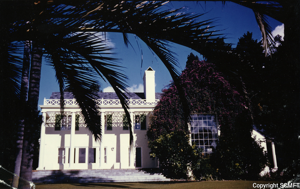 """1954 John McCormack & Huntington Hartford's home in Runyon Canyon. Known as """"The Pines"""""""