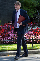 London, UK. 23 July, 2019. Chris Skidmore MP, Minister of State for Universities, arrives at 10 Downing Street for the final Cabinet meeting of Theresa May's Premiership. The name of the new Conservative Party Leader, and so the new Prime Minister, will be announced at a special event following the meeting.