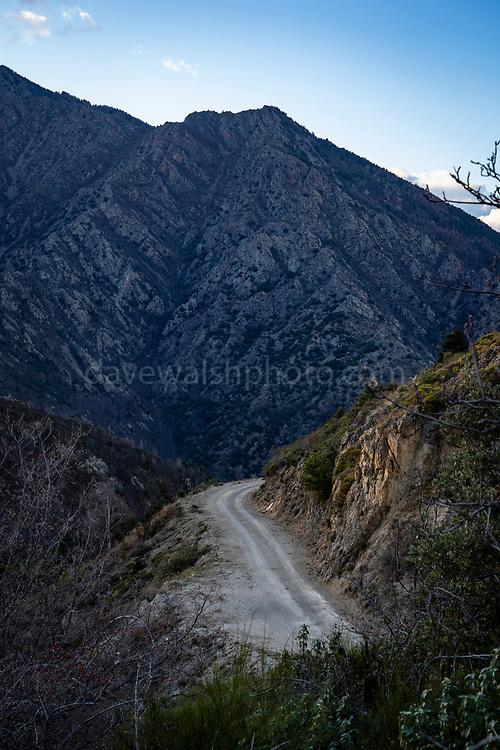 Gravel road, Col de Jou, Pyrenees Orientales, France