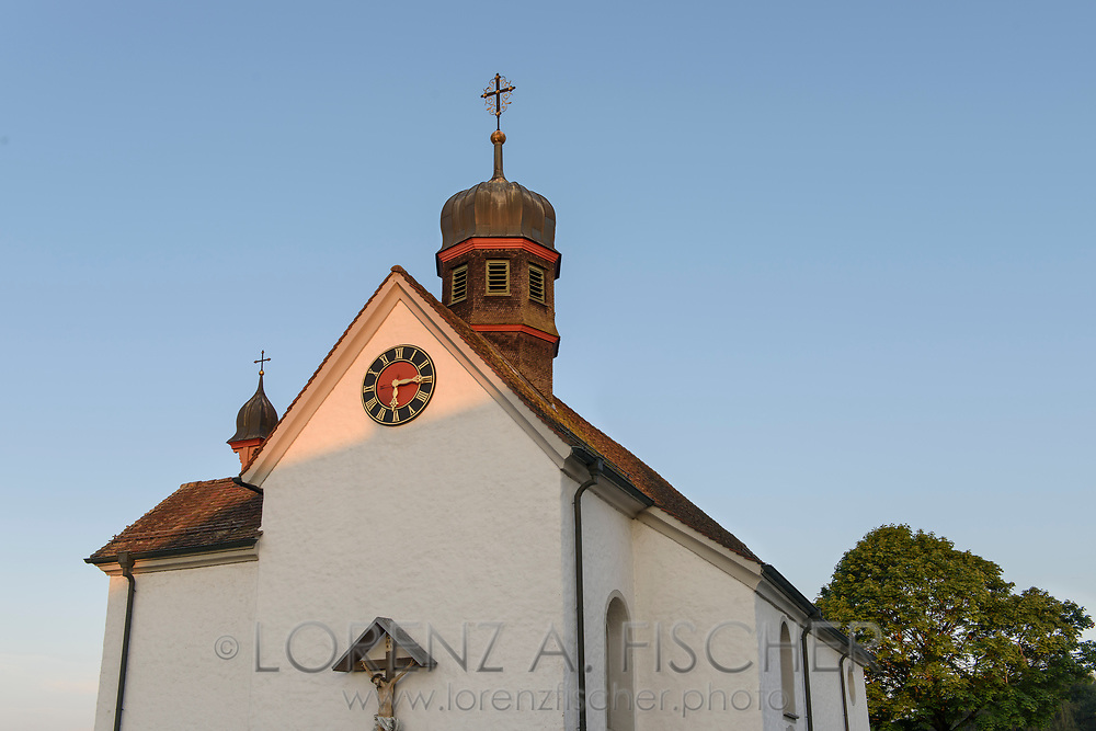The Roman Catholic Church of Warth-Weiningen on a nice and sunny summer morning in July, Frauenfeld, Thurgau, Switzerland