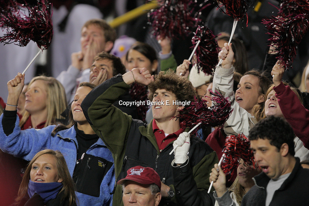 15 November 2008: Troy fans cheer in the stands during the LSU Tigers 40-31 come from behind victory over the Troy Trojans at Tiger Stadium in Baton Rouge, LA.