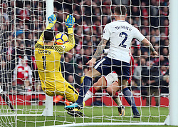 Arsenal's Alexis Sanchez scores his side's second goal of the game during the Premier League match at the Emirates Stadium, London.