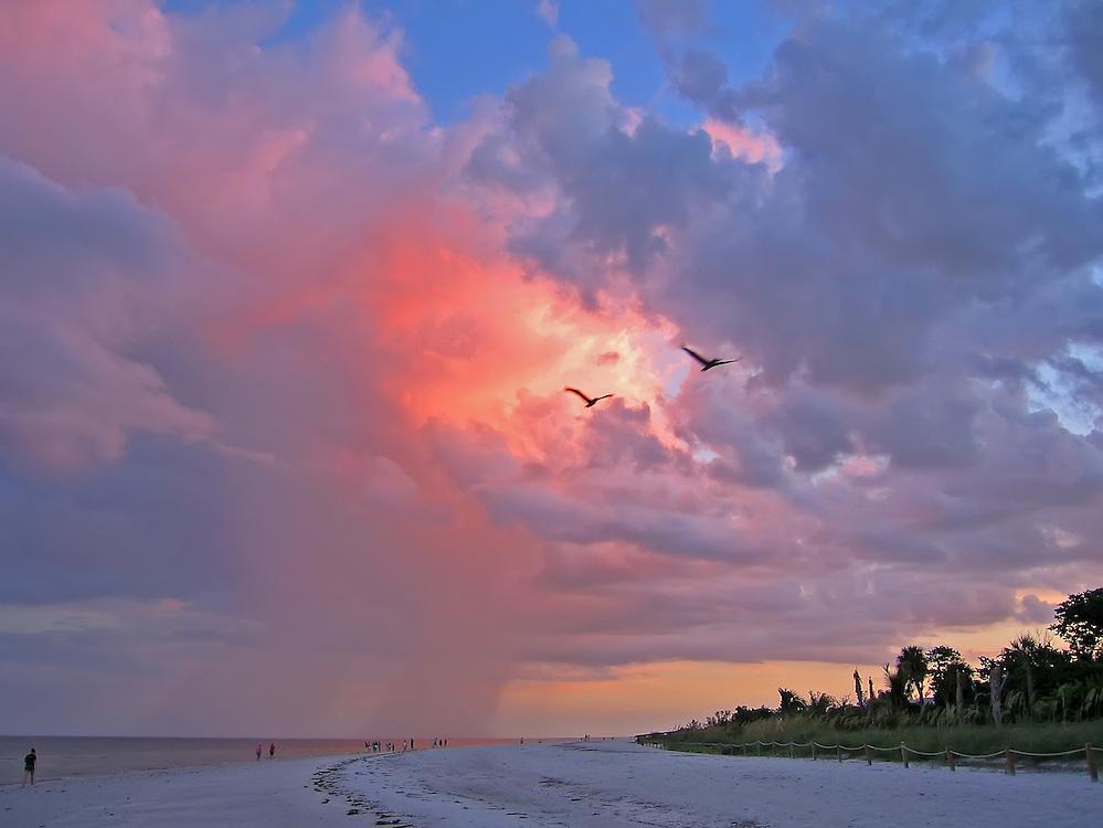 A storm brewing off of Sanibel Island.