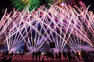 Fuegos artificiales en la Feria Internacional de la Pirotecnia 2020.  /  Fireworks at the Pyrotechnis