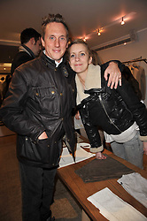 HARRY BECHER and LADY CANDIDA BALFOUR at the launch party for Club Monaco at Browns, 32 South Molton Street, London on 16th February 2011.