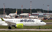 YL-AAO Air Baltic Airbus A220-300 Photographed at Malpensa airport, Milan, Italy