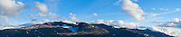 Panoramic mountain landscape, Jotunheimen national park, Norway