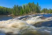 Wenosaga Rapids on the Wenosaga River<br />Ear Falls<br />Ontario<br />Canada