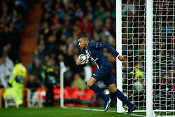 November 26, 2019, Madrid, MADRID, SPAIN: Kylian Mbappe of Paris Saint-Germain celebrates a goal during the UEFA Champions League football match, Group A, played between Real Madrid and Paris Saint-Germain at Santiago Bernabéu Stadium on November 26, 2019, in Madrid, Spain. (Credit Image: © AFP7 via ZUMA Wire)