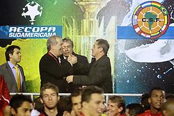 Giovanni Luigi comemora a  Recopa Sulamericana 2011 após venceer por 3x1 o Independiente, da Argentina, no Estadio Beira Rio em Porto Alegre. FOTO: Jefferson Bernardes/Preview.com