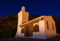 CHEFCHAOUEN, MOROCCO - CIRCA MAY 2018: View of the Spanish Mosque at night in Chefchaouen.