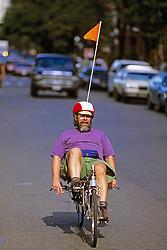 Bicycle Rider On Newbury St.