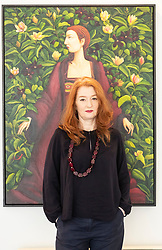 The legendary events and personal tragedies that marked the life of Mary, Queen of Scots will be the subject of a new exhibition in Edinburgh this autumn. Linger Awhile, which will open on 14 September at Arusha Gallery, will include 17 new oil paintings by Glasgow-based artist Helen Flockhart, focusing on the human side of the historical figure.<br /> <br /> Helen Flockhart (b.1963) is one of the finest and most distinctive Scottish artists of her generation. She often draws creative inspiration from esoteric and mythical sources, and her unique style combines intricate patterns, backdrops of lush foliage, and surreal scenes that appear suspended in time.<br /> <br /> <br /> Pictured: Helen Flockhart with Her Rob Ryall, 2018