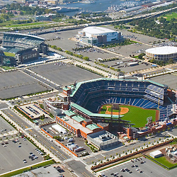 Aerial views of the Philadelphia Sports Venues; Lincoln Financial Field, home of the Eagles, Citizens Bank Park, home of the Phillies and 2009 World Series, The Wachovia Center, home of the  Flyers and 76ers, Comcast Spectrum, due to be torn down in spring of 2010,  as seen on Sept. 29, 2009 (AP Photo/Julia Robertson)