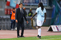 September 20, 2017 - Rome, Lazio, Italy - Simone Inzaghi manager of Lazio and Jordan Lukaku of Lazio during the Serie A match between SS Lazio and SSC Napoli at Stadio Olimpico on September 20, 2017 in Rome, Italy. (Credit Image: © Matteo Ciambelli/NurPhoto via ZUMA Press)