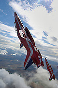 Red Arrows coming out of vertical flight