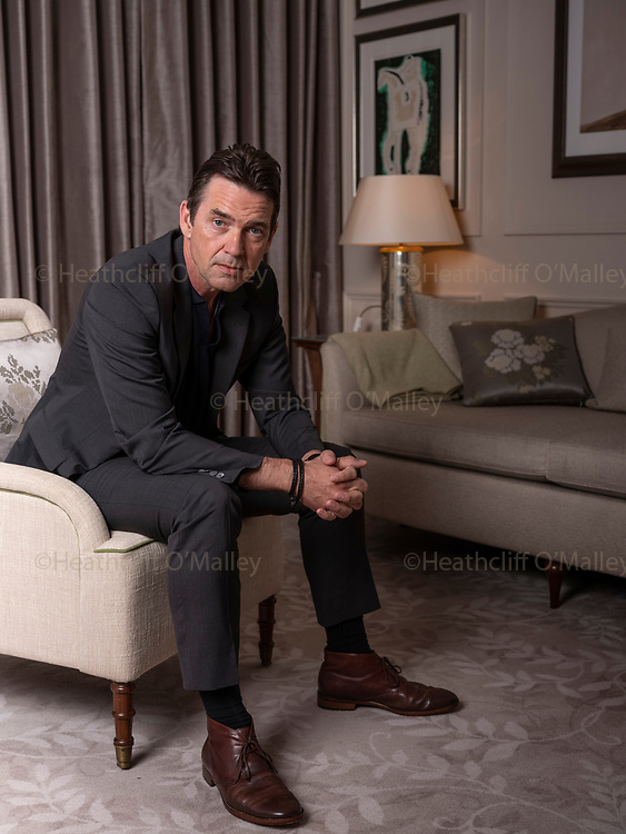 May0094277 . Daily Telegraph<br /> <br /> Features<br /> <br /> NB : CANNOT BE SYNDICATED WITHOUT CLEARANCE FROM DDA PR .<br /> <br /> Actor Dougray Scott photographed for an interview for his new film Sulphur and White, based on the true story of City trader and Mountaineer David Tait .<br /> <br /> London 27 February 2020
