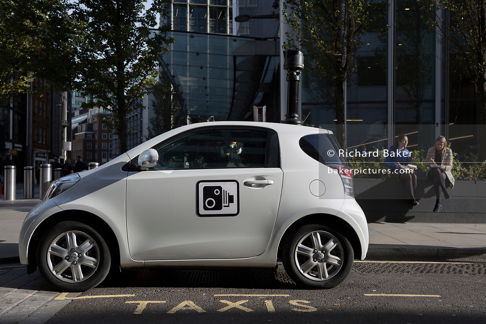 A Corporation of London CCTV car is parked on a taxi space to monitor a road junction, on 30th October 2017, in the City of London, England.