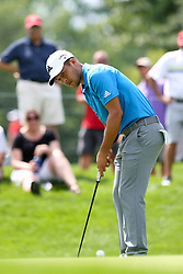 August 3, 2018 - Akron, Ohio, United States - Xander Schauffele putts during the second round of the WGC-Bridgestone Invitational at Firestone Country Club. (Credit Image: © Debby Wong via ZUMA Wire)