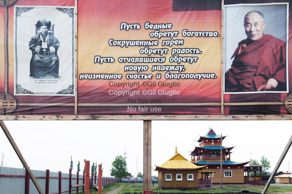 Russie, Sibérie, ville d'Oust-Orda, région oblast d'Irkutsk, monastère bouuddhiste // Russia, Siberia, town of Oust Orda, region of Irkutsk, boudhist monastery