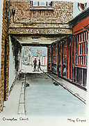 Randon Images of postcard drawings from Ireland, Cramton court, souvenirs yates, typists, Old amateur photos of Dublin streets churches, cars, lanes, roads, shops schools, hospitals