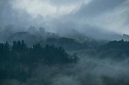 Fog at the mountains in Santa Eulaia de Oscos