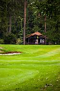 21-09-2015: Golf Resort Karlovy Vary in Karlovy Vary (Karlsbad), Tsjechië.<br /> Foto: Halfway house bij hole 9