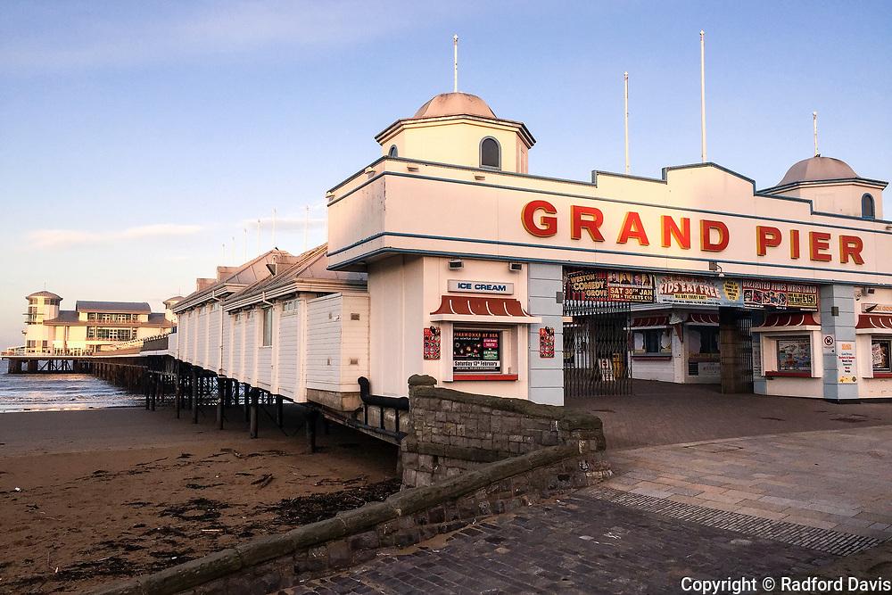Grand Pier at sunrise, Weston-super-Mare, England