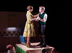 Nigel Slater's Toast <br /> Adapted by Henry Filloux-Bennett <br /> At The Other Place, London, Great Britain <br /> Press photo call <br /> <br /> Opens on 4th April 2019 <br /> <br /> Giles Cooper as Nigel Slater<br /> Lizzie Muncey as Mum <br /> <br /> <br /> Photograph by Elliott Franks