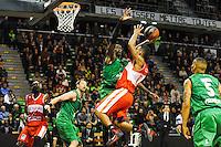 Amara SY / Ricardo Greer  - 29.12.2014 - Lyon Villeurbanne / Le Havre - 16e journee Pro A<br />Photo : Jean Paul Thomas / Icon Sport
