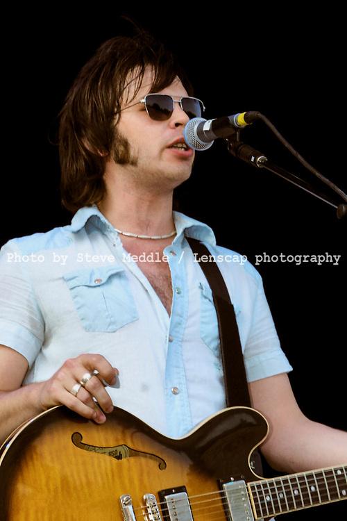 Gaz Coombes - Supergrass, V2002, Hylands Park, Chelmsford, Essex, Britain - 17 August 2002