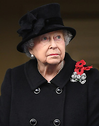 Members of The Royal Family attend Remembrance Sunday at The Cenotaph, London, UK, on the 12th November 2017. 12 Nov 2017 Pictured: Queen, Queen Elizabeth. Photo credit: James Whatling / MEGA TheMegaAgency.com +1 888 505 6342
