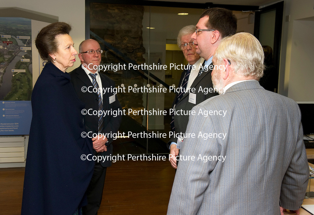 Visit of The Princess Royal to The Royal Scottish Geographical Society, Perth...17.01.12<br /> The Princess Royal tours The Fair Maids House<br /> Picture by Graeme Hart.<br /> Copyright Perthshire Picture Agency<br /> Tel: 01738 623350  Mobile: 07990 594431