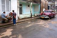 Street scene in Gibara, Holguin, Cuba.