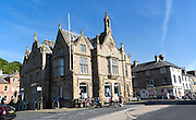 The Town hall built 1832, Settle, North Yorkshire. England, UK