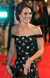 The Duke and Duchess of Cambridge attend The BAFTA Film Awards 2017 at The Royal Albert Hall, London, UK, on the 12th February 2017. Picture by Daniel Leal-Olivas/WPA-Pool. 12 Feb 2017 Pictured: Catherine, Duchess of Cambridge, Kate Middleton. Photo credit: MEGA TheMegaAgency.com +1 888 505 6342