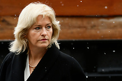 Attorney Kathleen Bliss arrives at the Courthouse in Norristown, PA on Monday, ahead of the jury selection for the retrail in the sexual assault case against the 80 year old entertainer/comedian. (Bastiaan Slabbers/ for WHYY)