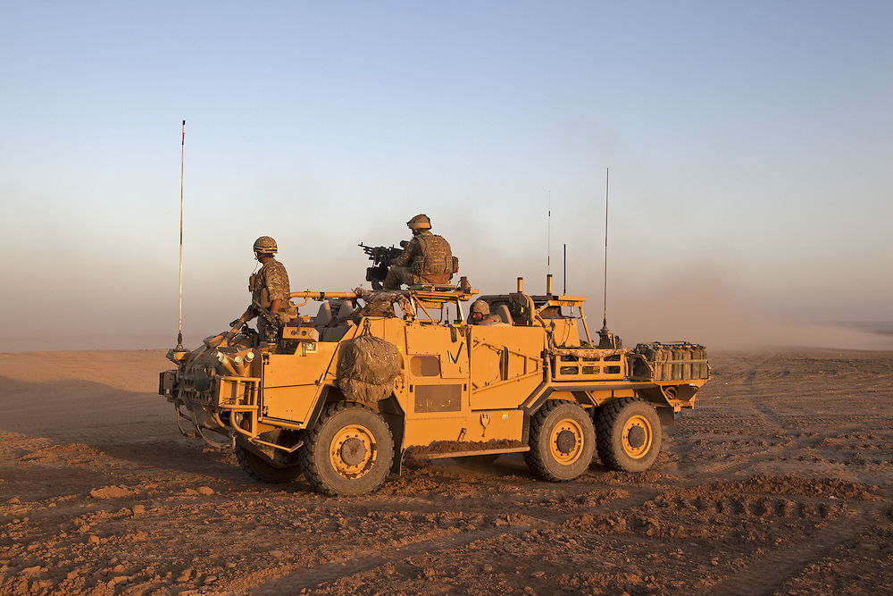 The BRF ( Brigade Reconnaissance Force) specialises in reconnaissance and strike operations behind enemy lines. Traveling in all terrain vehicles such as Jackals and on occasions Warthogs the unit travels with all the supplies such as food, water and ammunition required to survive and fight unsupported for extended periods of time. Helmand Province, Southern Afghanistan on the 14th of March 2011.