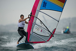 31.07.2012, Bucht von Weymouth, GBR, Olympia 2012, Windsurfen, im Bild RS:X Men, Wilhelm Toni (GER) . EXPA Pictures © 2012, PhotoCredit: EXPA/ Juerg Kaufmann ***** ATTENTION for AUT, CRO, GER, FIN, NOR, NED, POL, SLO and SWE ONLY!