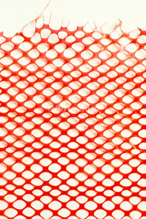 close up of plastic netting