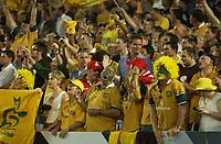 Photo: Richard Lane.<br />New Zealand v Australia. Semi-Final, at the Telstra Stadium, Sydney. RWC 2003. 15/11/2003. <br />Australia fans celebrate victory.