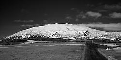 The glacier Snaefellsjokull, west part of Iceland, - Snæfellsjökull
