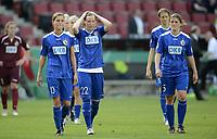 Fotball<br /> Tyskland<br /> 19.05.2013<br /> DFB Pokal Finale der Frauen 2013, VfL Wolfsburg (WOB) - Turbine Potsdam (P) 3:2<br /> Foto: imago/Digitalsport<br /> NORWAY ONLY<br /> <br /> v.l.: Patricia Hanebeck, Stefanie Draws und Maren Mjelde (P)